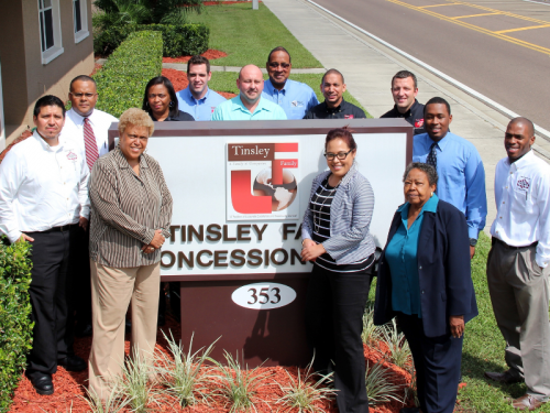 Staff Members in front of TFC Corporate HQ_Tinsley Family Concessions_Page Slider_800 x 600 (7)